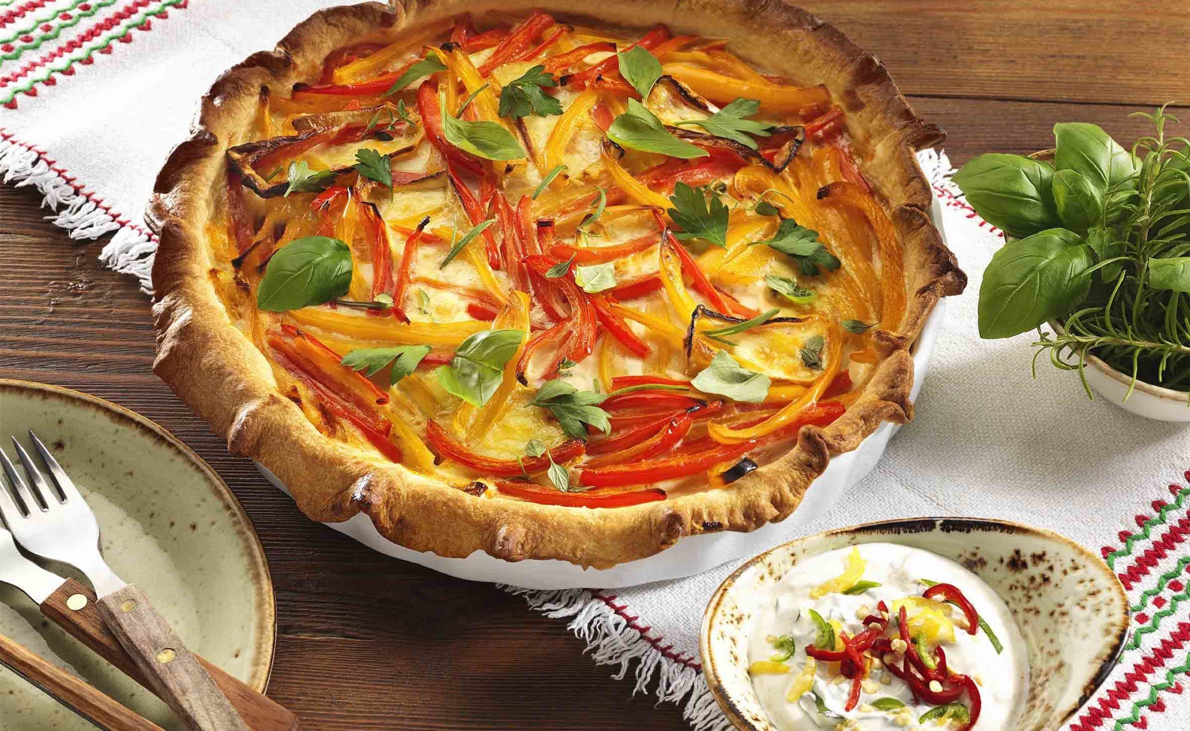 Paprika-Quiche mit Camembert